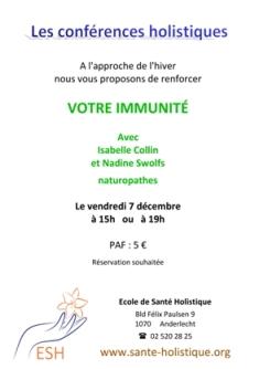RENFORCER VOTRE IMMUNIT Par Des Moyens Naturels FORMATION PROFESSIONNELLE EN ODONTOLOGIE NERGTIQUE